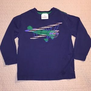 Hanna Andersson plane long sleeve shirt